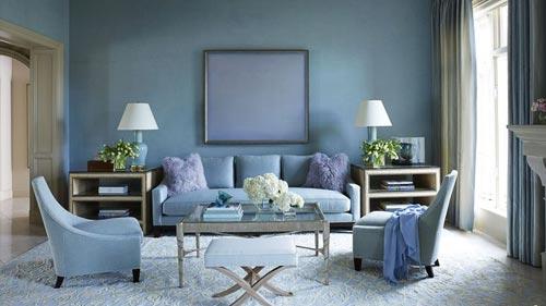 Powder Blue Living Room