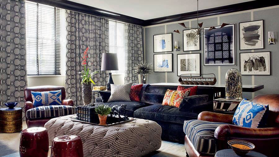Living room textile patterns