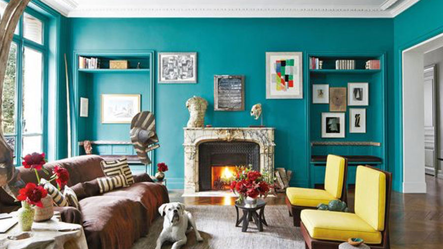 Colorful Paris apartment