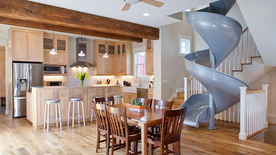 Slide inside house